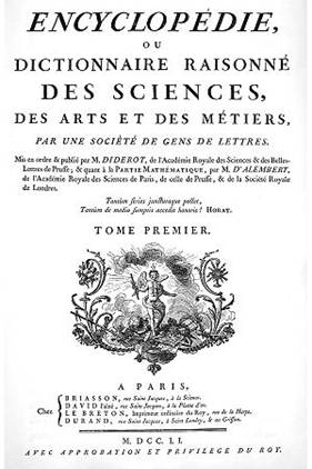 Carátula de L'encyclopedie (1751)