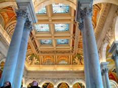 Image:Library of Congress ceiling columns Washington DC.jpg